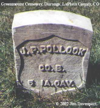 POLLOCK, J. P. - La Plata County, Colorado | J. P. POLLOCK - Colorado Gravestone Photos