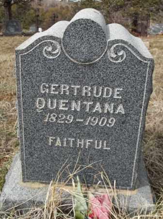 QUENTANA, GERTRUDE - La Plata County, Colorado   GERTRUDE QUENTANA - Colorado Gravestone Photos