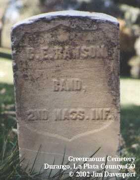 RANSON, C. E. - La Plata County, Colorado | C. E. RANSON - Colorado Gravestone Photos