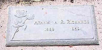 RICHARDS, ATANA A. R. - La Plata County, Colorado | ATANA A. R. RICHARDS - Colorado Gravestone Photos