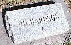RICHARDSON, UNKNOWN - La Plata County, Colorado   UNKNOWN RICHARDSON - Colorado Gravestone Photos