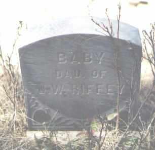 RIFFEY, BABY - La Plata County, Colorado   BABY RIFFEY - Colorado Gravestone Photos