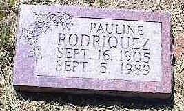RODRIQUEZ, PAULINE - La Plata County, Colorado   PAULINE RODRIQUEZ - Colorado Gravestone Photos
