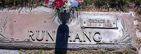 RUNSHANG, GEORGE E. - La Plata County, Colorado   GEORGE E. RUNSHANG - Colorado Gravestone Photos