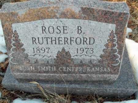 RUTHERFORD, ROSE B. - La Plata County, Colorado | ROSE B. RUTHERFORD - Colorado Gravestone Photos