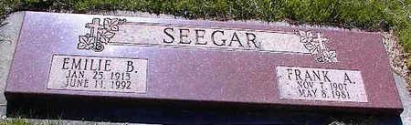 SEEGAR, EMILIE B. - La Plata County, Colorado | EMILIE B. SEEGAR - Colorado Gravestone Photos