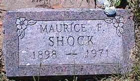 SHOCK, MAURICE F. - La Plata County, Colorado   MAURICE F. SHOCK - Colorado Gravestone Photos