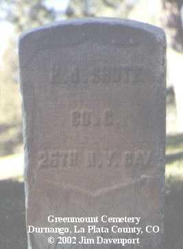 SHUTE, H. J. - La Plata County, Colorado | H. J. SHUTE - Colorado Gravestone Photos