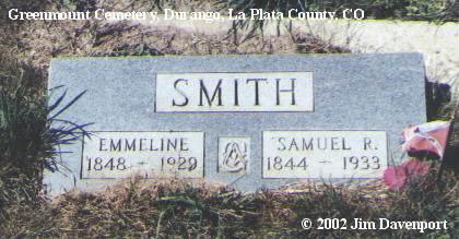 SMITH, EMMELINE - La Plata County, Colorado | EMMELINE SMITH - Colorado Gravestone Photos