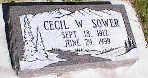 SOWER, CECIL W. - La Plata County, Colorado | CECIL W. SOWER - Colorado Gravestone Photos
