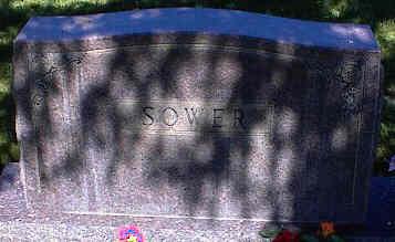 SOWER, MONUMENT STONE - La Plata County, Colorado | MONUMENT STONE SOWER - Colorado Gravestone Photos