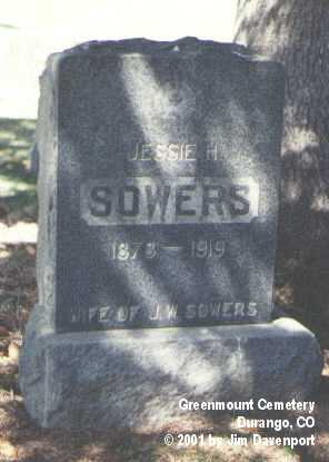 SOWERS, JESSE H. - La Plata County, Colorado | JESSE H. SOWERS - Colorado Gravestone Photos
