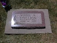 STILLION, WINNIE M. - La Plata County, Colorado | WINNIE M. STILLION - Colorado Gravestone Photos