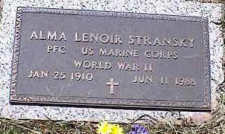 STRANSKY, ALMA LENOIR - La Plata County, Colorado | ALMA LENOIR STRANSKY - Colorado Gravestone Photos