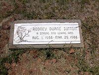 SUTTON, RODNEY DUANE - La Plata County, Colorado   RODNEY DUANE SUTTON - Colorado Gravestone Photos