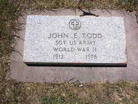 TODD, JOHN E. - La Plata County, Colorado | JOHN E. TODD - Colorado Gravestone Photos