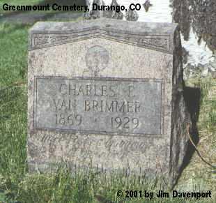VAN BRIMMER, CHARLES F. - La Plata County, Colorado | CHARLES F. VAN BRIMMER - Colorado Gravestone Photos
