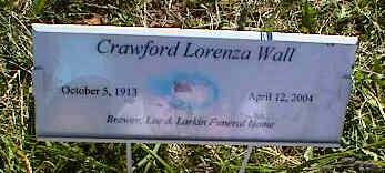WALL, CRAWFORD LORENZA - La Plata County, Colorado   CRAWFORD LORENZA WALL - Colorado Gravestone Photos