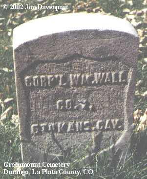 WALL, WM. - La Plata County, Colorado   WM. WALL - Colorado Gravestone Photos