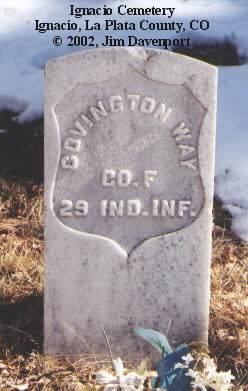 WAY, COVINGTON - La Plata County, Colorado | COVINGTON WAY - Colorado Gravestone Photos