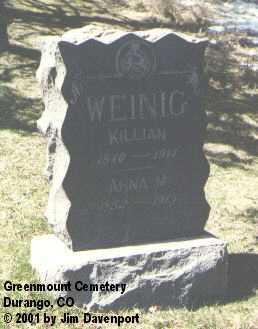 WEINIG, ANNA M. - La Plata County, Colorado | ANNA M. WEINIG - Colorado Gravestone Photos