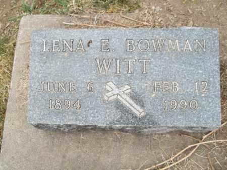 WITT, LENA E. - La Plata County, Colorado | LENA E. WITT - Colorado Gravestone Photos