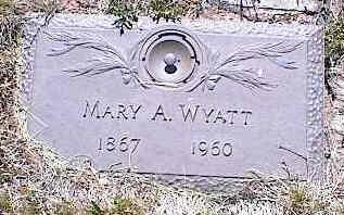 WYATT, MARY A. - La Plata County, Colorado   MARY A. WYATT - Colorado Gravestone Photos