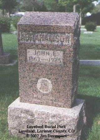 ABRAHAMSON, JOHN E. - Larimer County, Colorado   JOHN E. ABRAHAMSON - Colorado Gravestone Photos