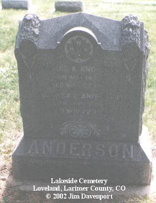 ANDERSON, THOMAS A. - Larimer County, Colorado | THOMAS A. ANDERSON - Colorado Gravestone Photos