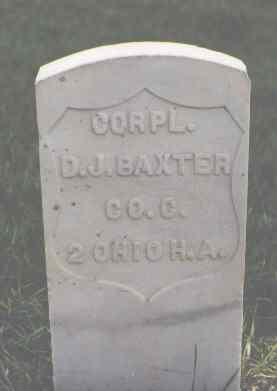 BAXTER, D. J. - Larimer County, Colorado   D. J. BAXTER - Colorado Gravestone Photos