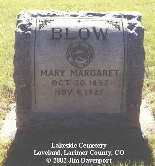 BLOW, MARY MARGARET - Larimer County, Colorado | MARY MARGARET BLOW - Colorado Gravestone Photos