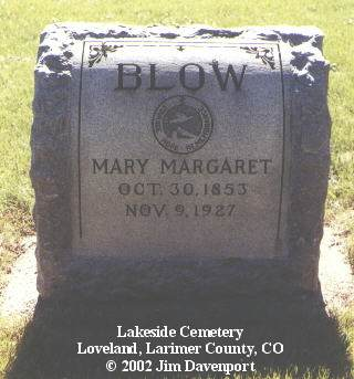 BLOW, MARY MARGARET - Larimer County, Colorado   MARY MARGARET BLOW - Colorado Gravestone Photos