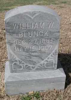 BLUNCK, WILLIAM W. - Larimer County, Colorado   WILLIAM W. BLUNCK - Colorado Gravestone Photos