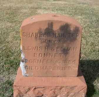 BONNETT, CHARLES BAINTER - Larimer County, Colorado   CHARLES BAINTER BONNETT - Colorado Gravestone Photos