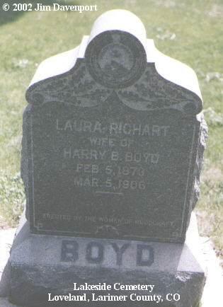 RICHART BOYD, LAURA - Larimer County, Colorado | LAURA RICHART BOYD - Colorado Gravestone Photos