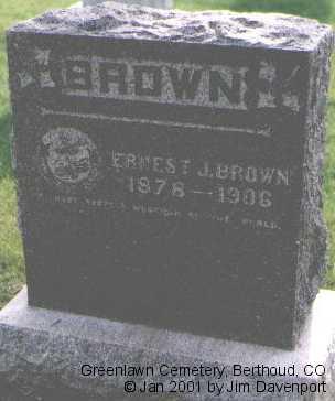 BROWN, ERNEST J. - Larimer County, Colorado | ERNEST J. BROWN - Colorado Gravestone Photos