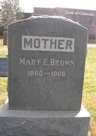BROWN, MARY E. - Larimer County, Colorado   MARY E. BROWN - Colorado Gravestone Photos