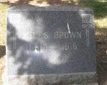 BROWN, MILES - Larimer County, Colorado   MILES BROWN - Colorado Gravestone Photos
