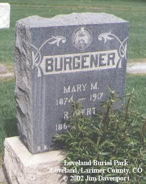 BURGENER, MARY M. - Larimer County, Colorado | MARY M. BURGENER - Colorado Gravestone Photos