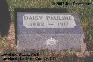 DALEY, DAISY PAULINE - Larimer County, Colorado | DAISY PAULINE DALEY - Colorado Gravestone Photos