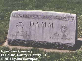 DAMM, ALBERT - Larimer County, Colorado | ALBERT DAMM - Colorado Gravestone Photos