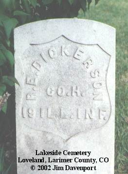 DICKERSON, R. E. - Larimer County, Colorado | R. E. DICKERSON - Colorado Gravestone Photos