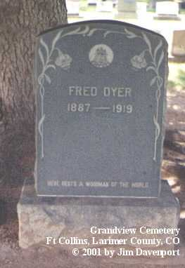 DYER, FRED - Larimer County, Colorado | FRED DYER - Colorado Gravestone Photos