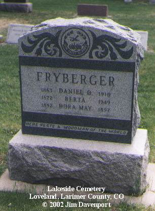 FRYBERGER, DORA MAY - Larimer County, Colorado | DORA MAY FRYBERGER - Colorado Gravestone Photos