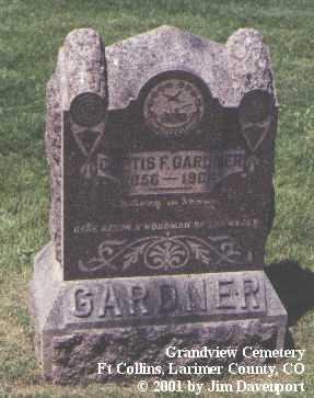 GARDNER, CURTIS F. - Larimer County, Colorado | CURTIS F. GARDNER - Colorado Gravestone Photos