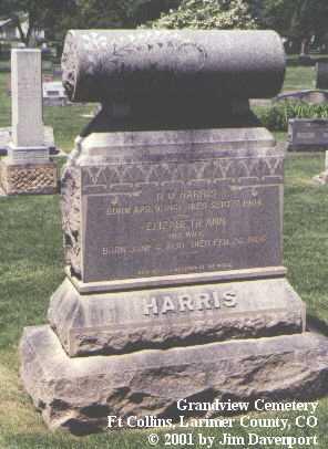 HARRIS, D. M. - Larimer County, Colorado | D. M. HARRIS - Colorado Gravestone Photos