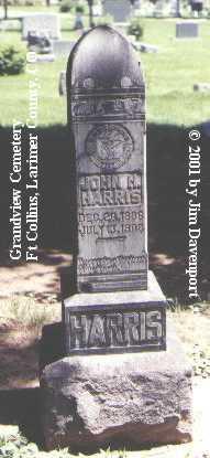 HARRIS, JOHN H. - Larimer County, Colorado | JOHN H. HARRIS - Colorado Gravestone Photos