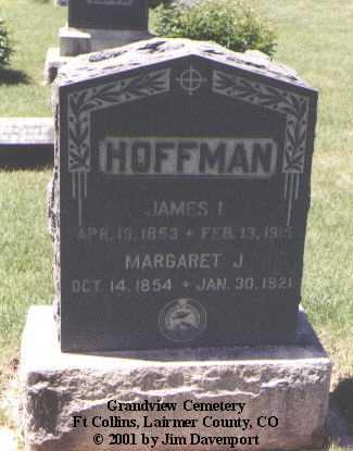 HOFFMAN, JAMES I. - Larimer County, Colorado | JAMES I. HOFFMAN - Colorado Gravestone Photos