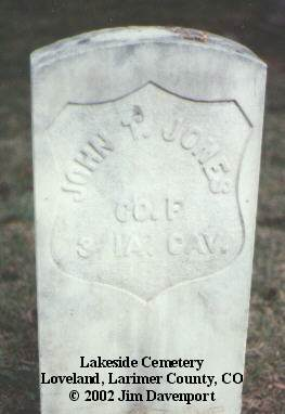 JONES, JOHN T. - Larimer County, Colorado | JOHN T. JONES - Colorado Gravestone Photos