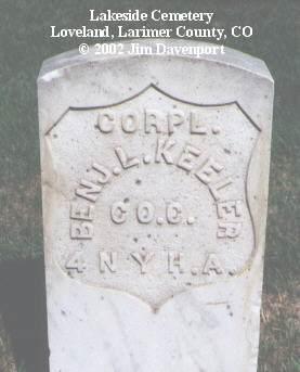 KEELER, BEN'J L. - Larimer County, Colorado   BEN'J L. KEELER - Colorado Gravestone Photos